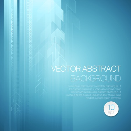 Vector abstract technology background with lines and arrow. EPS 10