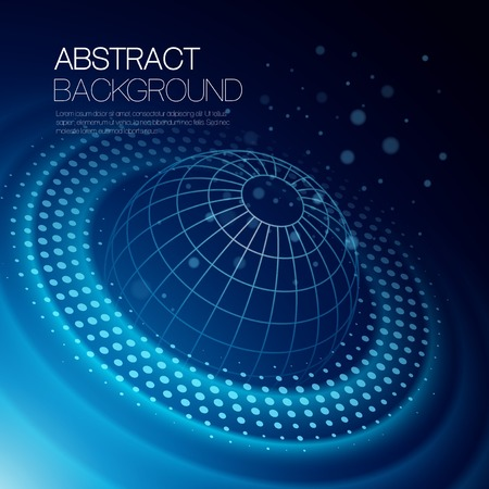 global background: Vector abstract color background with glowing space orbit Illustration
