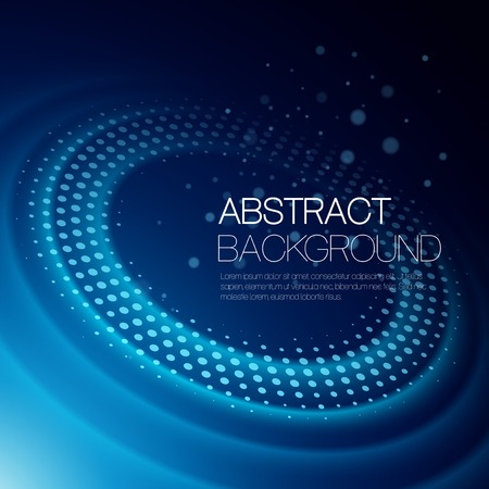 orbits: Vector abstract color background with glowing space orbit Illustration