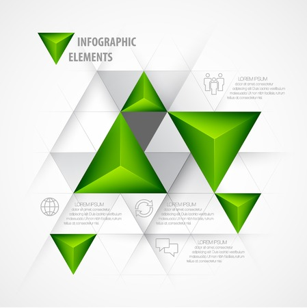 3d triangle: Infographics Abstract background  3d triangle. Vector illustration Illustration