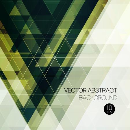 Vintage abstract triangular background. Vector illustration.