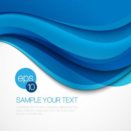 ブルー ウェーブと抽象的な背景は。ベクトル図