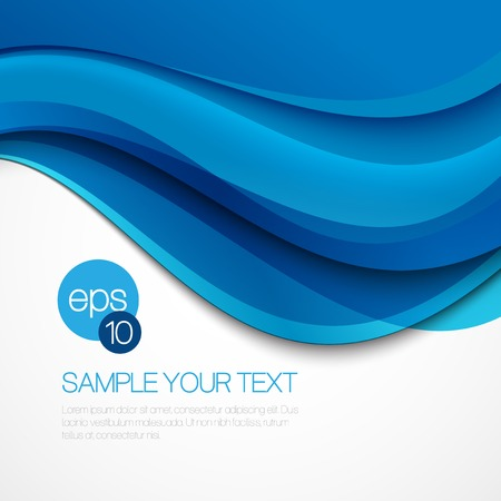Zusammenfassung Hintergrund mit blauen Wellen. Vektor-Illustration