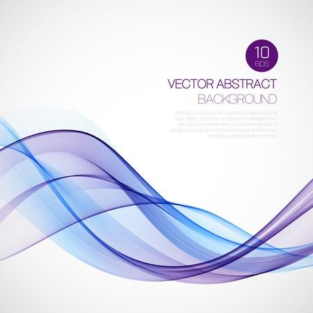 Wave rook abstracte achtergrond. Vector illustratie Stock Illustratie