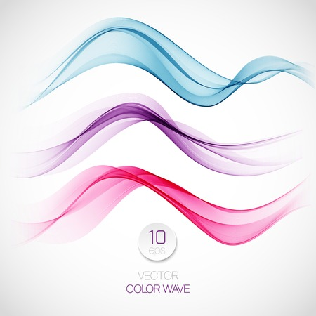Wave smoke abstract background. Vector illustration