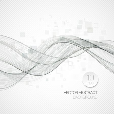 line art: Fondo de onda abstracto azul. Ilustraci�n vectorial