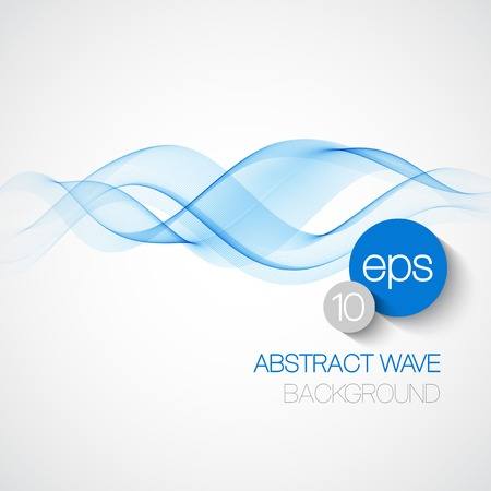 Wave smoke abstract background. Vector illustration Stok Fotoğraf - 37041327