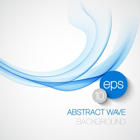 Wave smoke abstract background. Vector illustration EPS10
