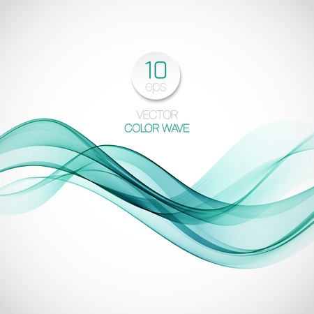 Wave smoke abstract background. Vector illustration Zdjęcie Seryjne - 37041622