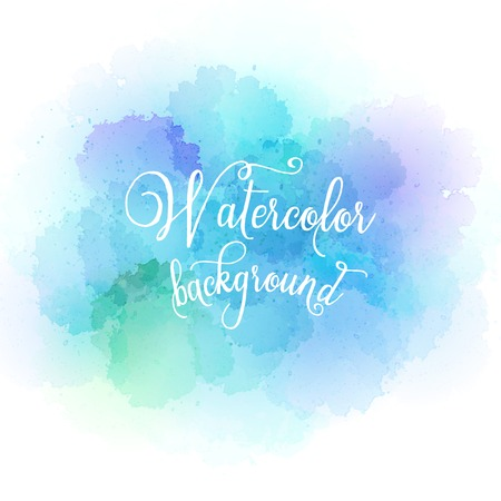 Abstract watercolor hand paint texture. Vector illustration EPS10