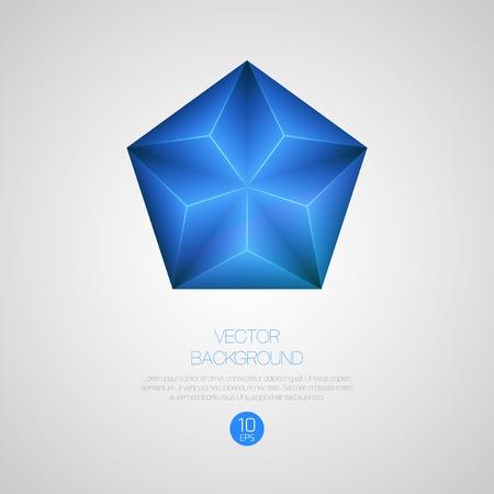 pentagon: Abstract 3d triangular background.  Illustration