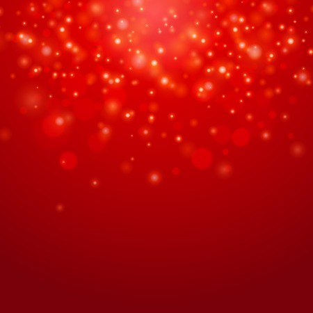 Holiday abstract Red vector  bokeh light background