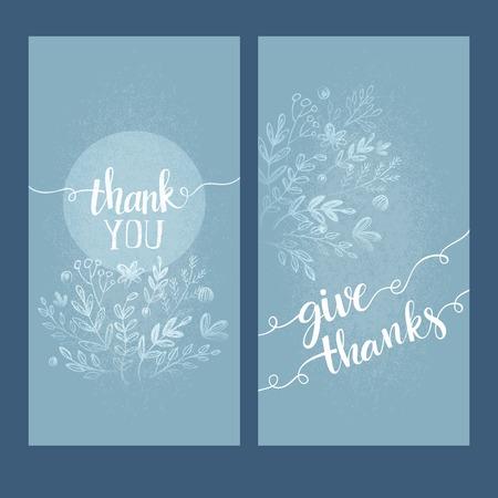 merci: Carte avec les mots je vous remercie. Vecteur illutration Illustration
