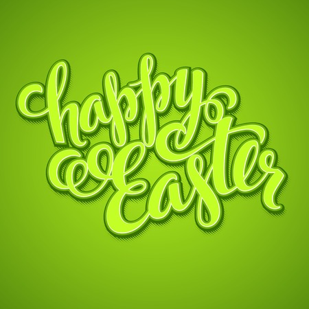 title hands: Title Happy Easter. Hand  drawn lettering. Vector illustration