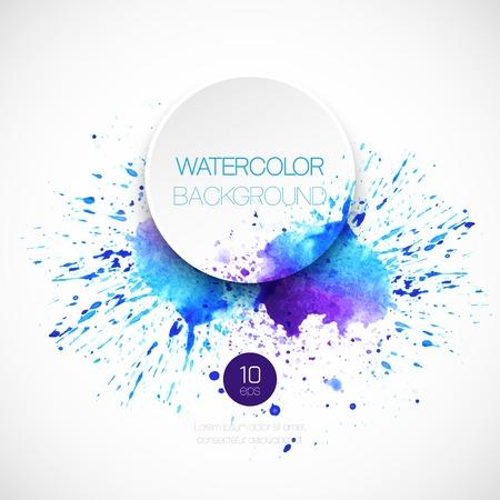 水彩画の抽象的な背景。ベクトル イラスト  イラスト・ベクター素材
