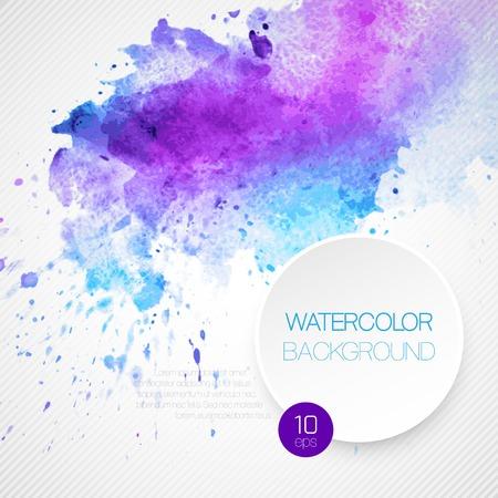水彩の抽象的な背景。ベクトルの図。  イラスト・ベクター素材