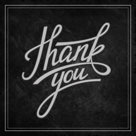 Hand Lettering Thank you. Vector illustration