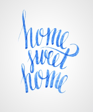 housewarming: Sweet home hand lettering Illustration