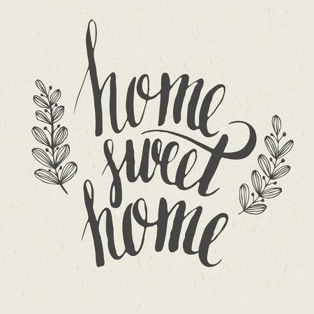 Sweet home Hand Schriftzug Vektorgrafik