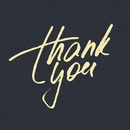 thank you card: Lettering Thank you