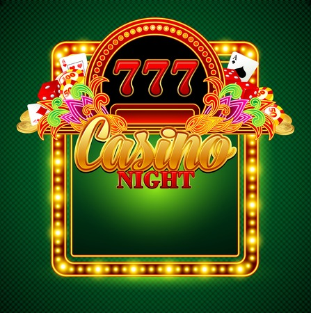 Casino background with cards, chips, craps. Vector illustration Vector