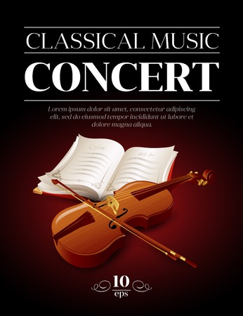 music poster: Poster of a classical music concert. Vector illustration