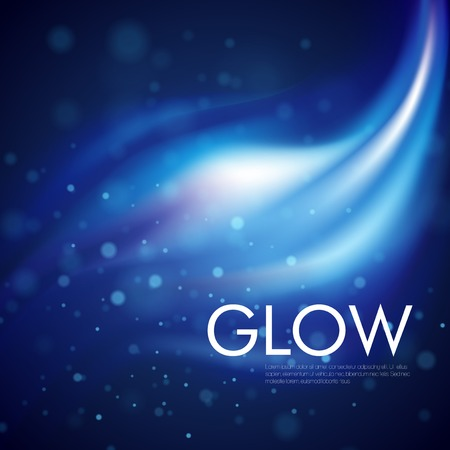 Vector blue light glowing background