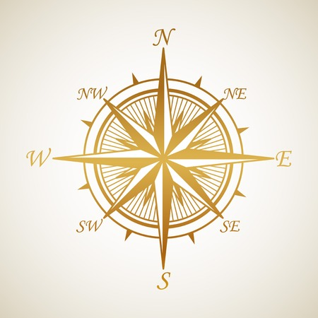 windrose: Gold vintage Windrose. Vector illustration EPS 10