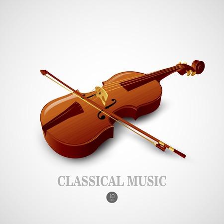 Violino. Strumento musicale vettore Vettoriali