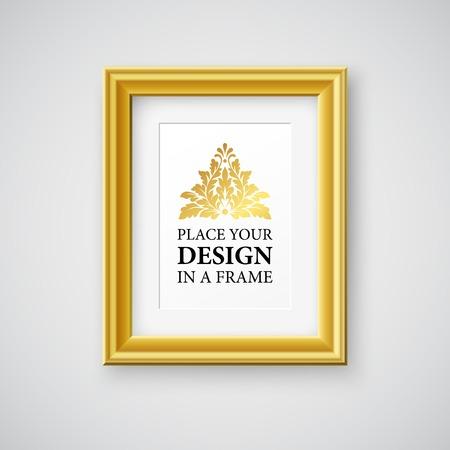 boarder: Vector Vintage Picture Frame. Template design EPS 10