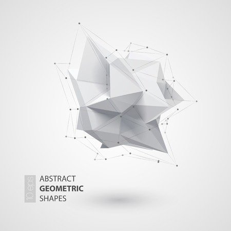 Low polygon geometry shape. Vector illustration EPS 10 Vettoriali