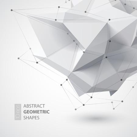 szerkezet: Alacsony sokszög alakú geometria. Vektoros illusztráció Illusztráció