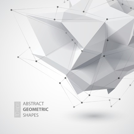 Low polygon geometry shape. Vector illustration