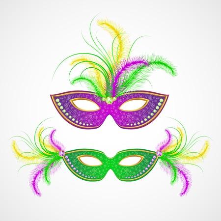teatro mascara: Mardi Gras máscara de carnaval. Ilustración vectorial