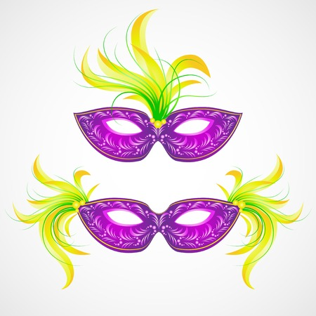 decoration decorative disguise: Mardi Gras carnival mask. Vector illustration  Illustration