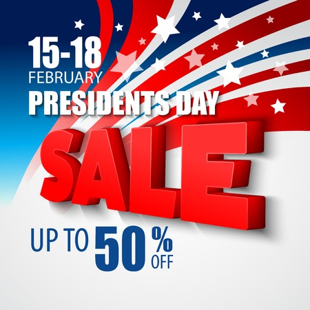 labour day: Presidents Day Vector Background. USA Patriotic illustration