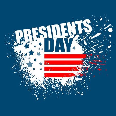 presidents: Presidents Day Vector Background. USA Patriotic illustration