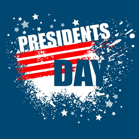 presidents: Presidents Day Vector Background. USA Patriotic illustration
