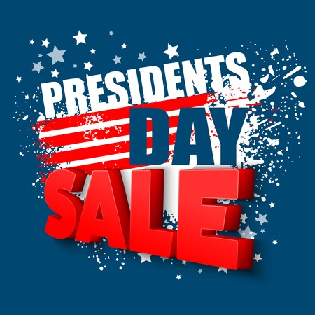 president of the usa: Presidents Day Vector Background. USA Patriotic illustration