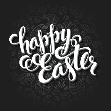 texts: Easter greeting card. Holiday typography EPS 10