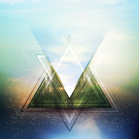future sign: Abstract triangle future vector background  EPS 10 Illustration