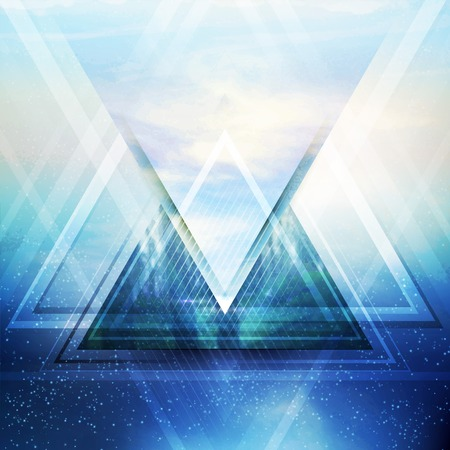 Abstract triangle future vector background  EPS 10 Çizim