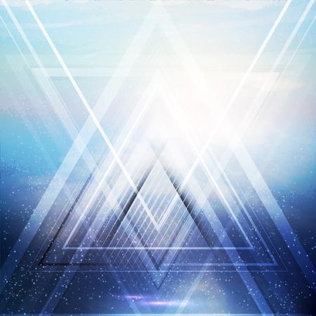 future concept: Abstract triangle future vector background   Illustration