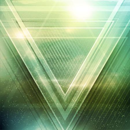 Abstracte driehoek toekomst vector achtergrond Stock Illustratie