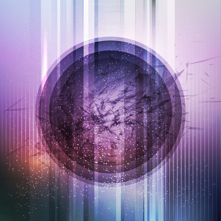 Circular futuristic background. Vector illustration