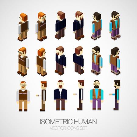 Vector isometric human set. Icon vector illustration Stock Illustratie