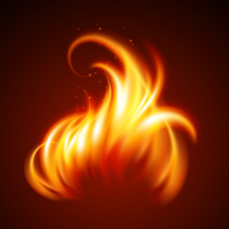 furnace: Fire realistic background. Vector illustration EPS 10