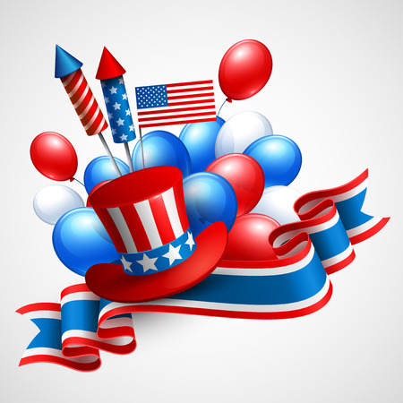 Independence Day holiday symbols. Vector illustration EPS 10