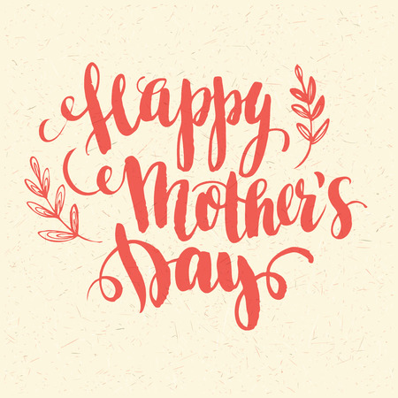 Happy Mothers Day. Hand-drawn card. Vector illustration EPS 10
