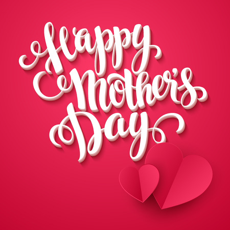 upmarket: Happy mothers day Card. Calligraphic inscription. Vector illustration EPS 10 Illustration